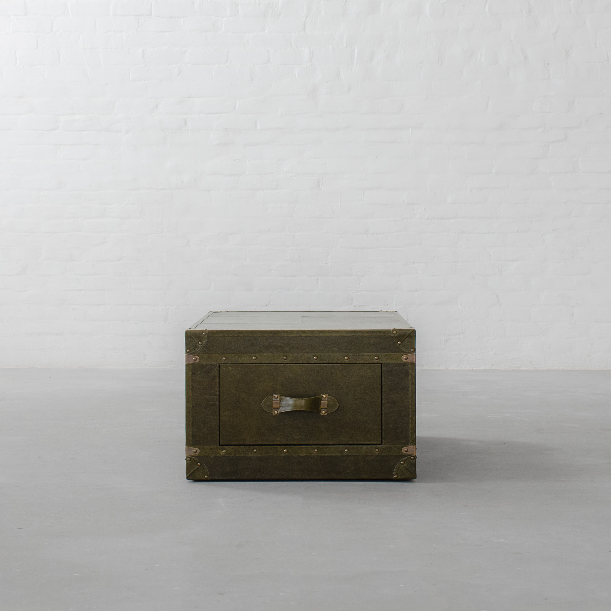 Jodhpur Leather Trunk Coffee Table