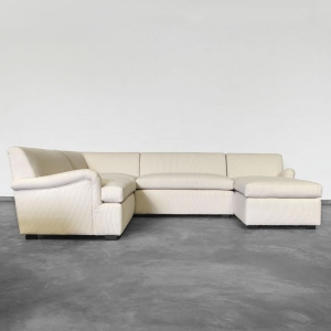 L Shape Xtra Large Sectional With Chaise Rolled Arm