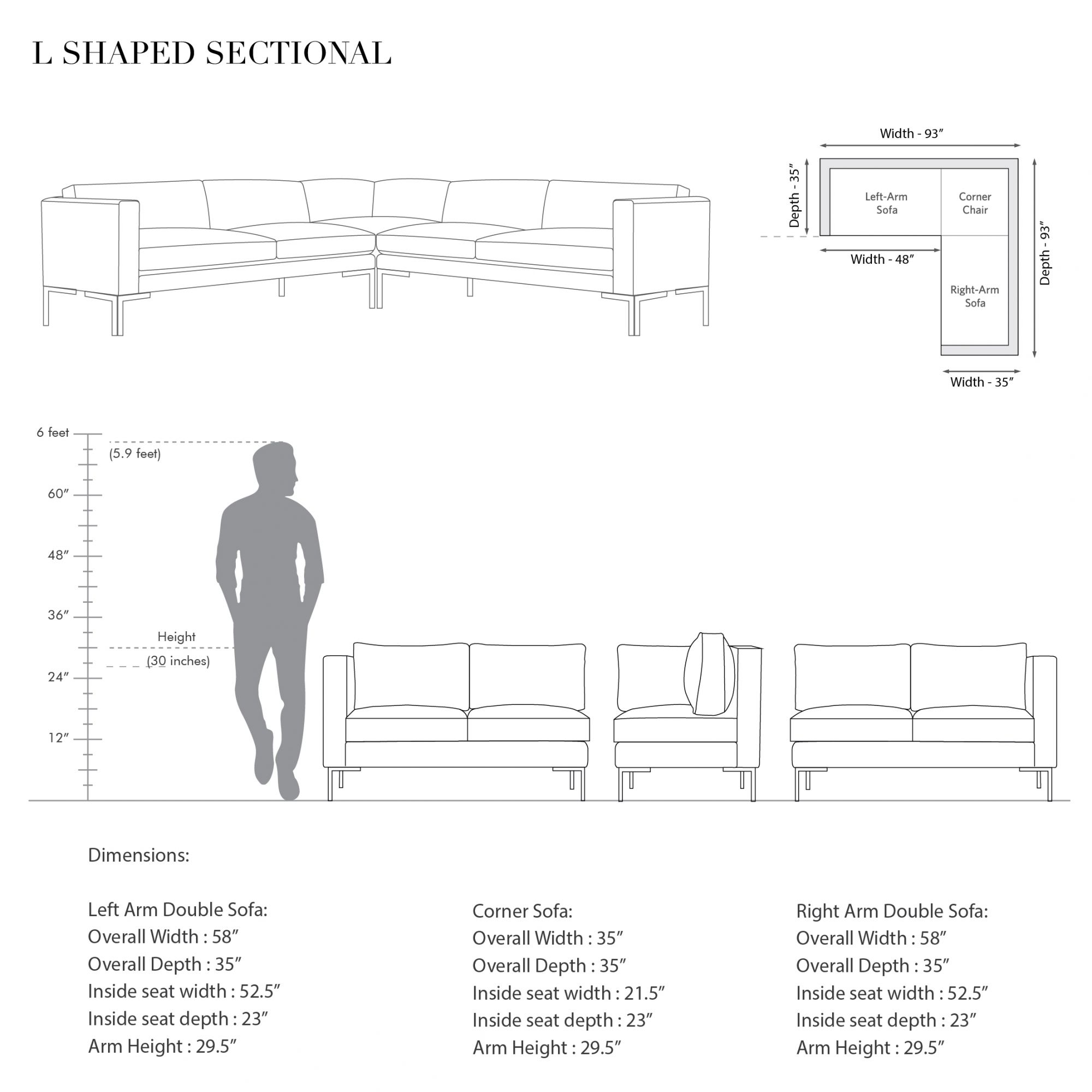 L.A L-shaped Sectional
