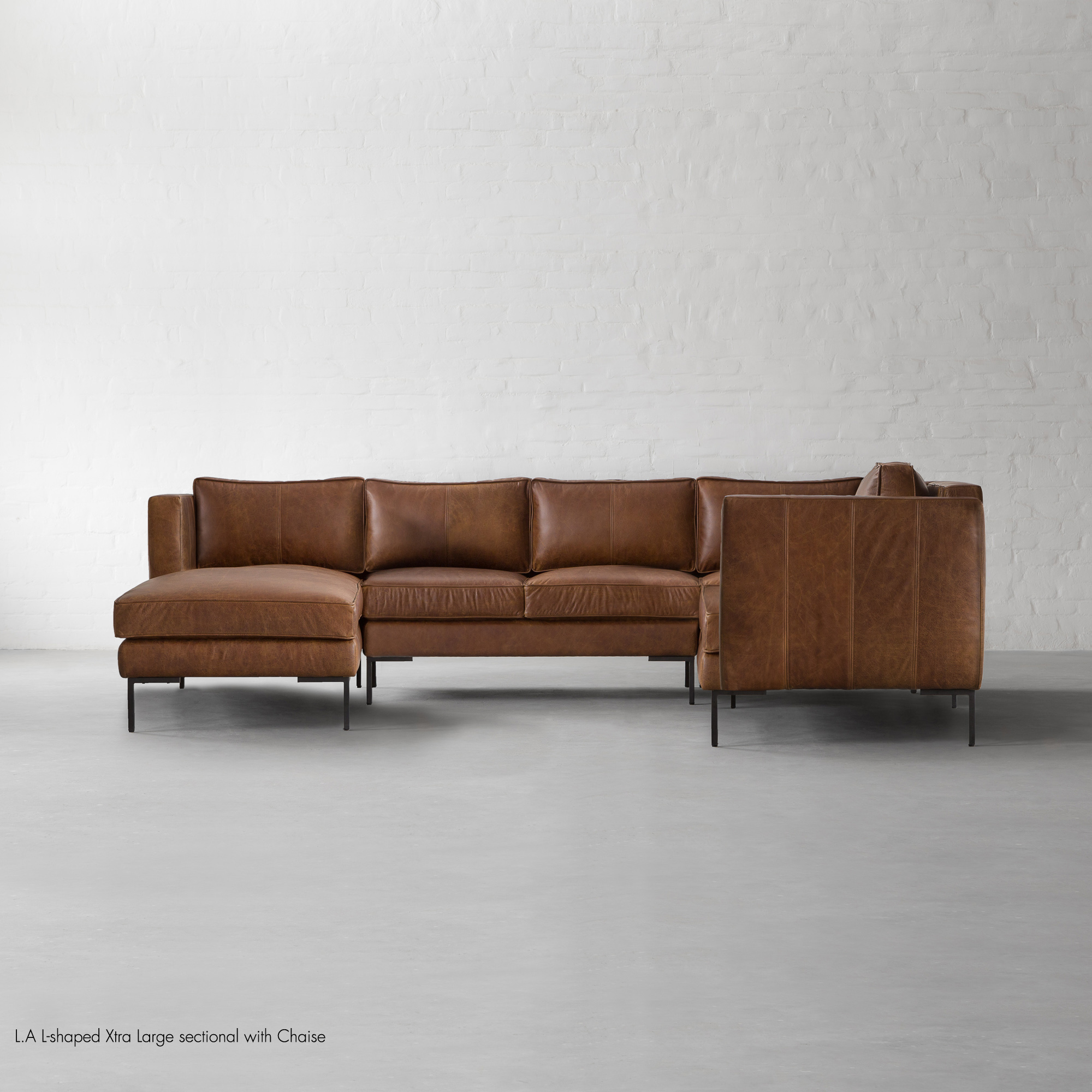 L.A L-shaped Xtra Large sectional with Chaise