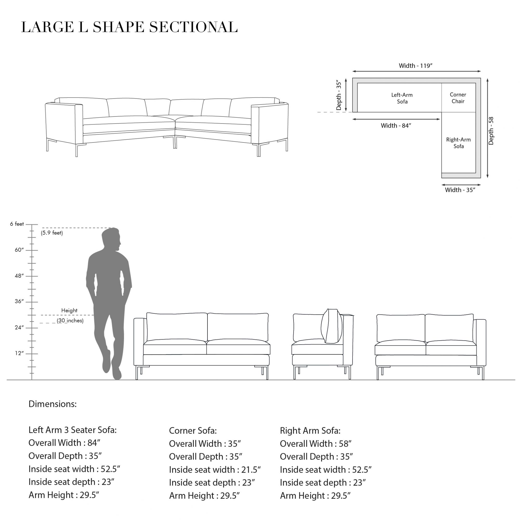 L.A Large L-shaped Sectional