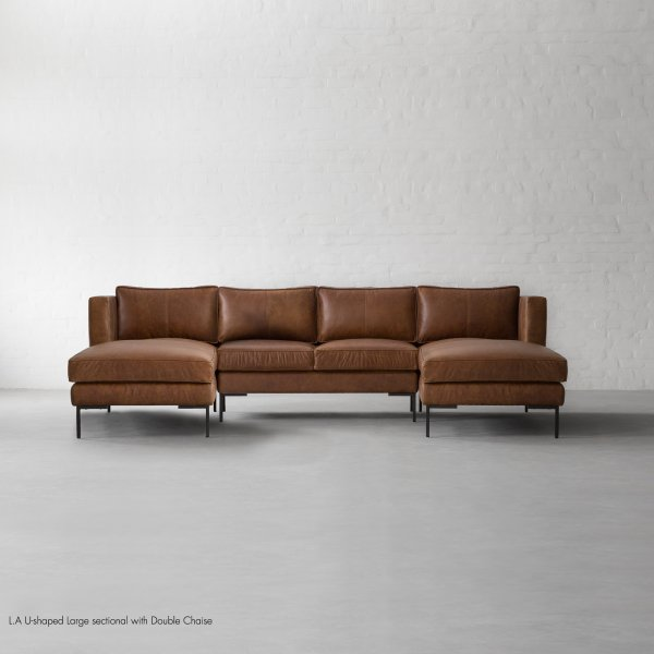 L.A U-shaped Large sectional with Double Chaise