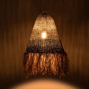 Lake Grass Bell Pendant Lamp with Tassel