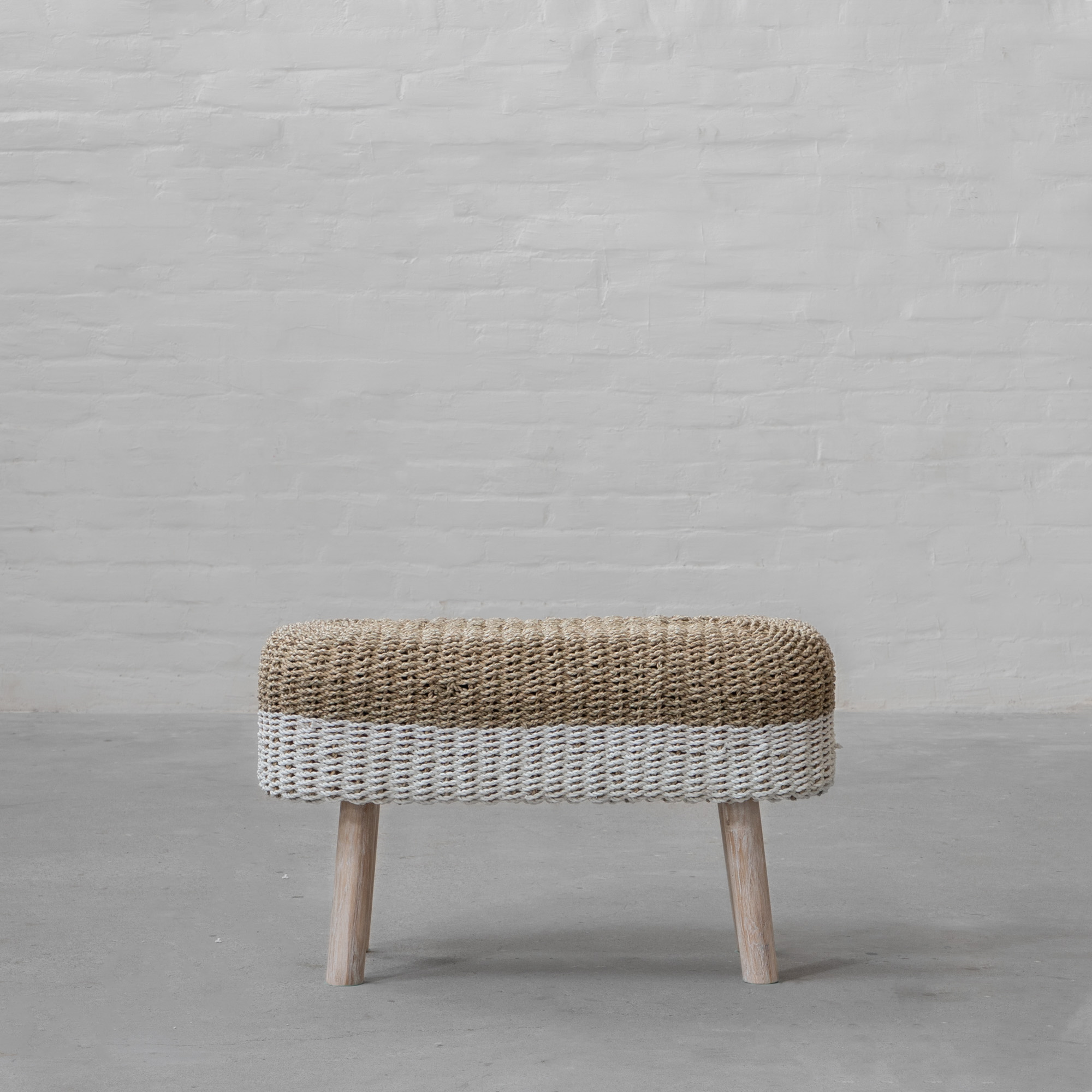 Langkawi Seagrass Bench – Natural White