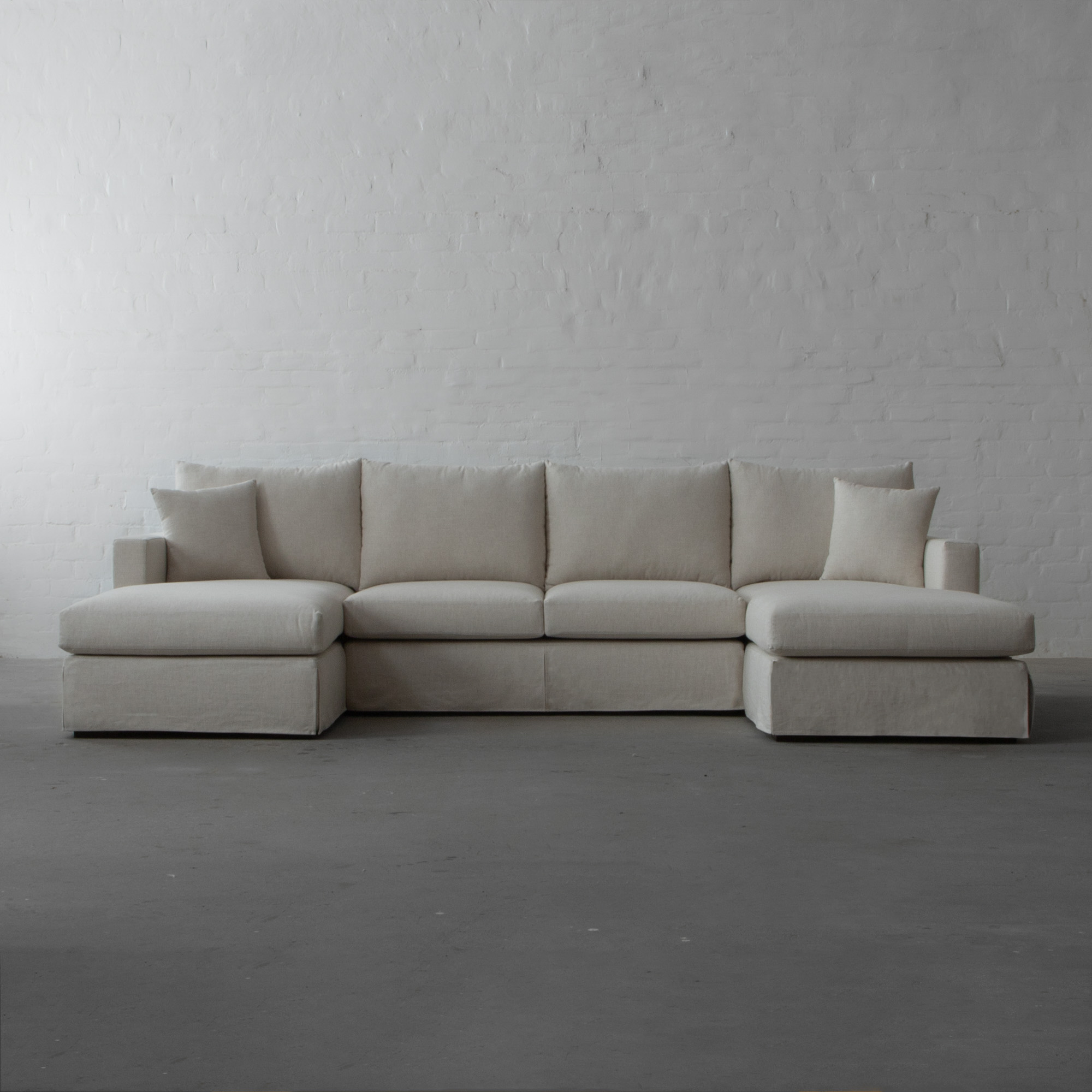 Large U Shape Sectional  with  Double Chaise-California