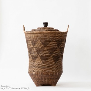 Art of Borneo - Handmade Basket with Lid and Knob