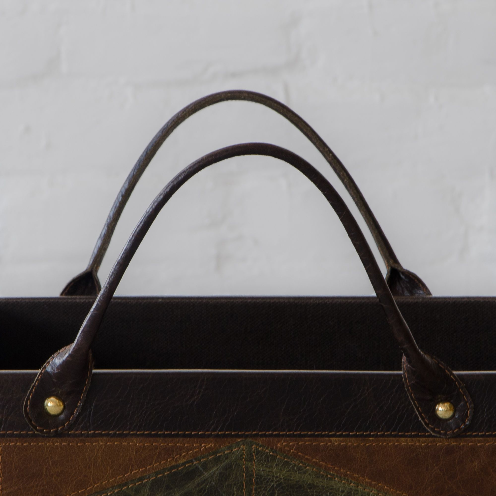 Edward Leather Clad Magazine Holder