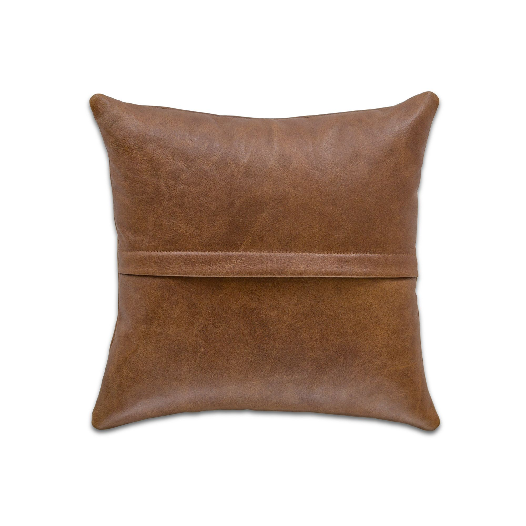 Scrunched Vintage Leather Cushion Cover