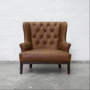 Loveseat Tufted Leather