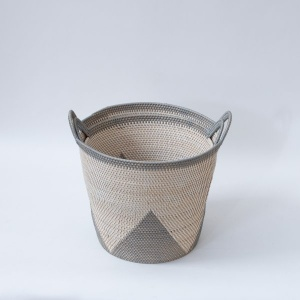 Malay Handwoven Basket With Side Swing  Handles