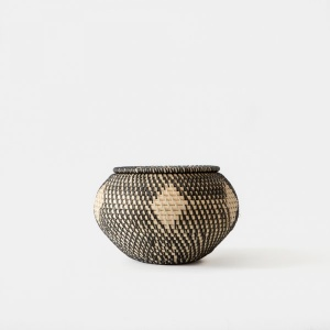 Malay Trinket Handwoven Bowl Ebony