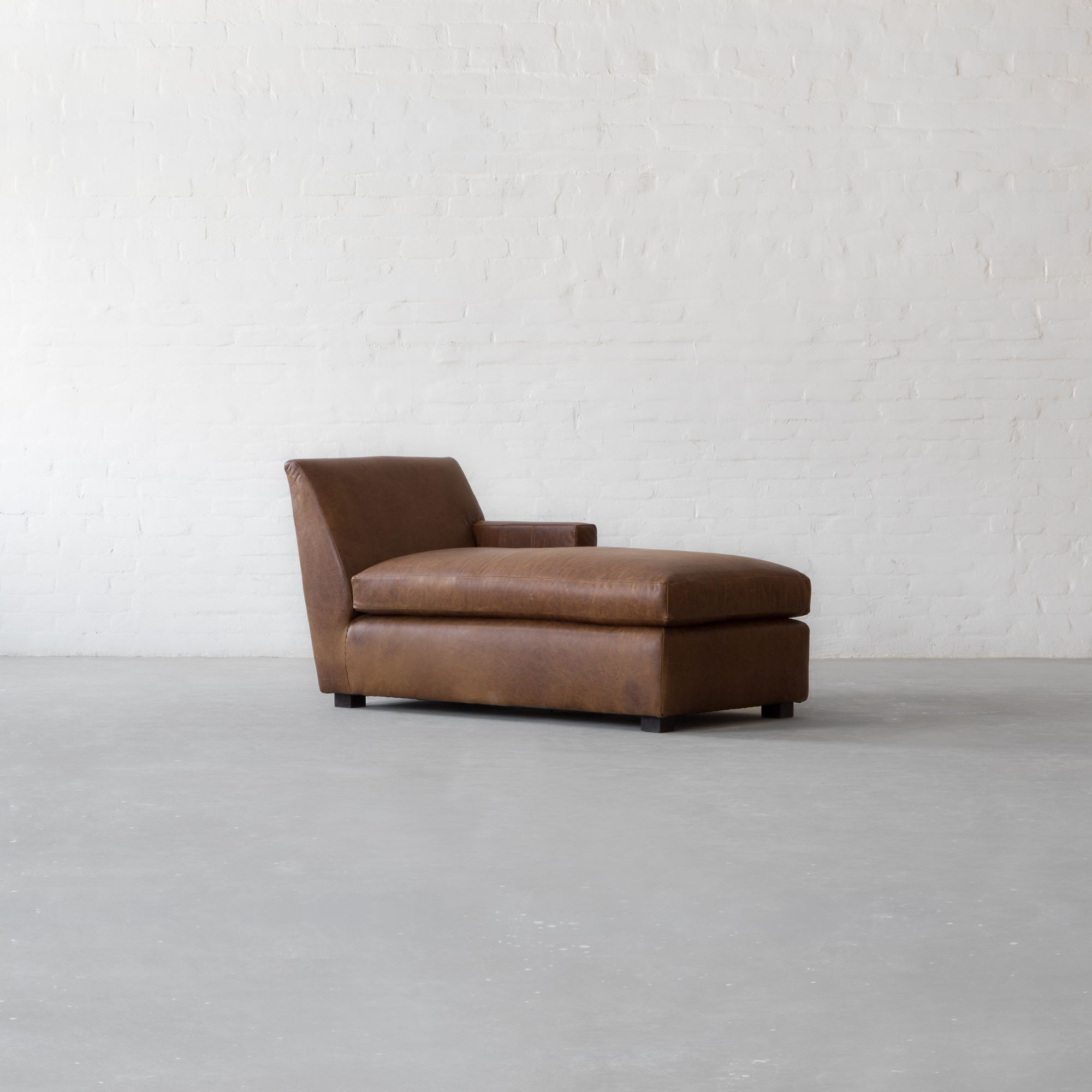 Manor Leather Chaise Sectional