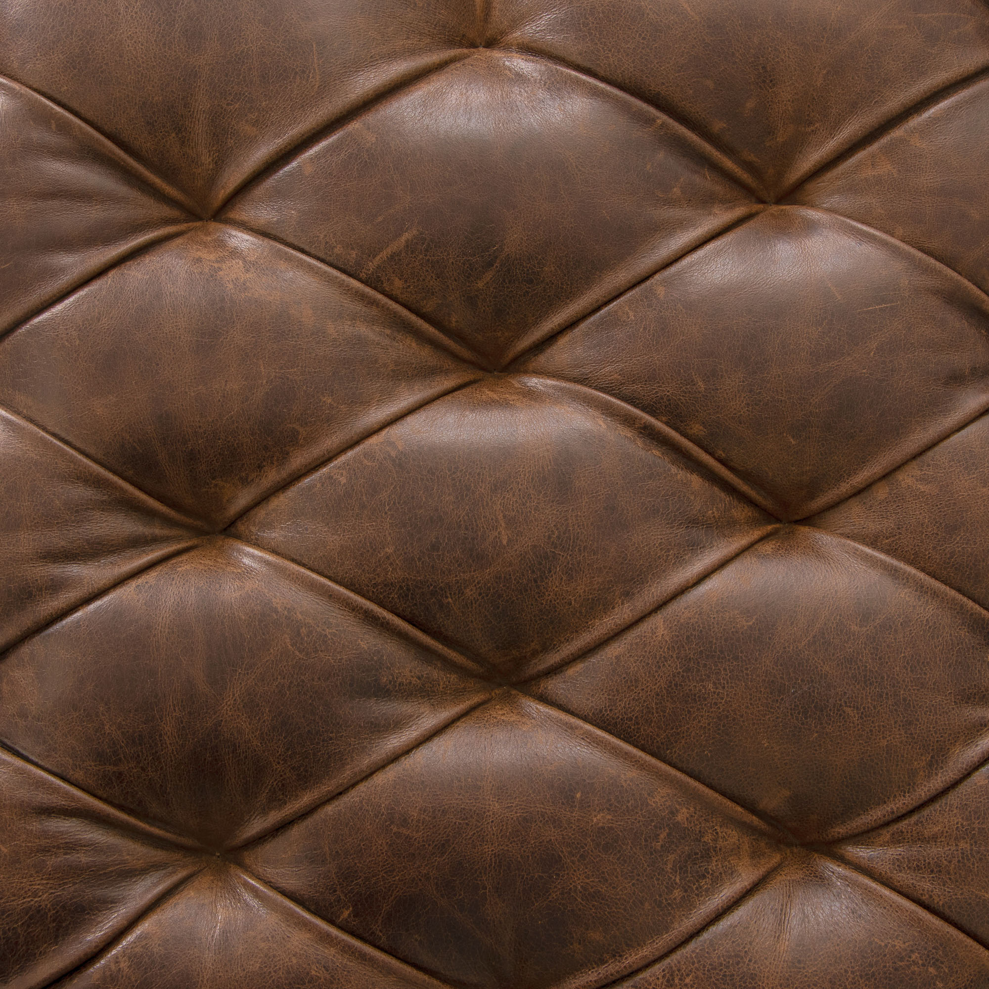 Faun Leather Tufted Coffee Table