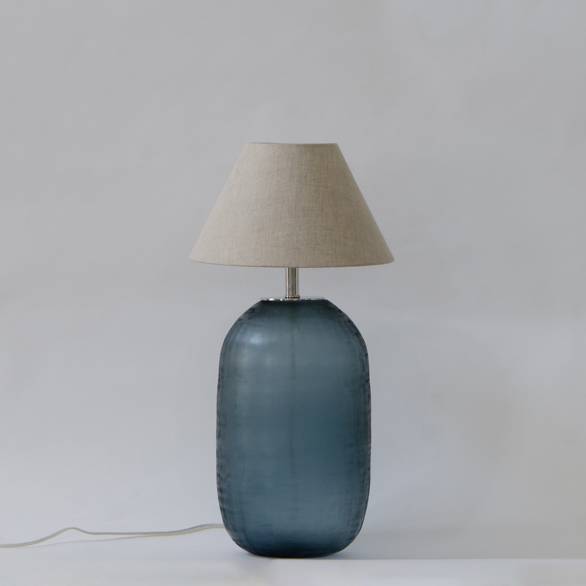 Mellow Glass Lamp Stand - Teal