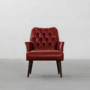 Milan Tufted Leather Armchair Collection