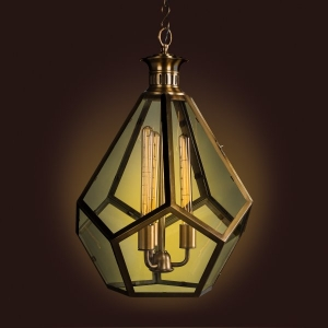 Milano Metal and Glass Chandelier Antique Brass Finish