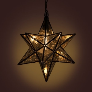 Munich Star Metal and Glass Pendant