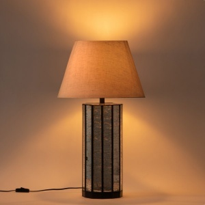Naples Metal and Glass Table Lamp