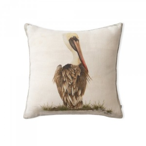 Perched Pelican Cushion Cover