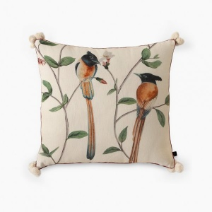 CHATTING BIRDS CUSHION COVER