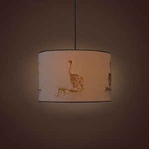 Villa Cylindrical Pendant Lamp - Poised Pelicans