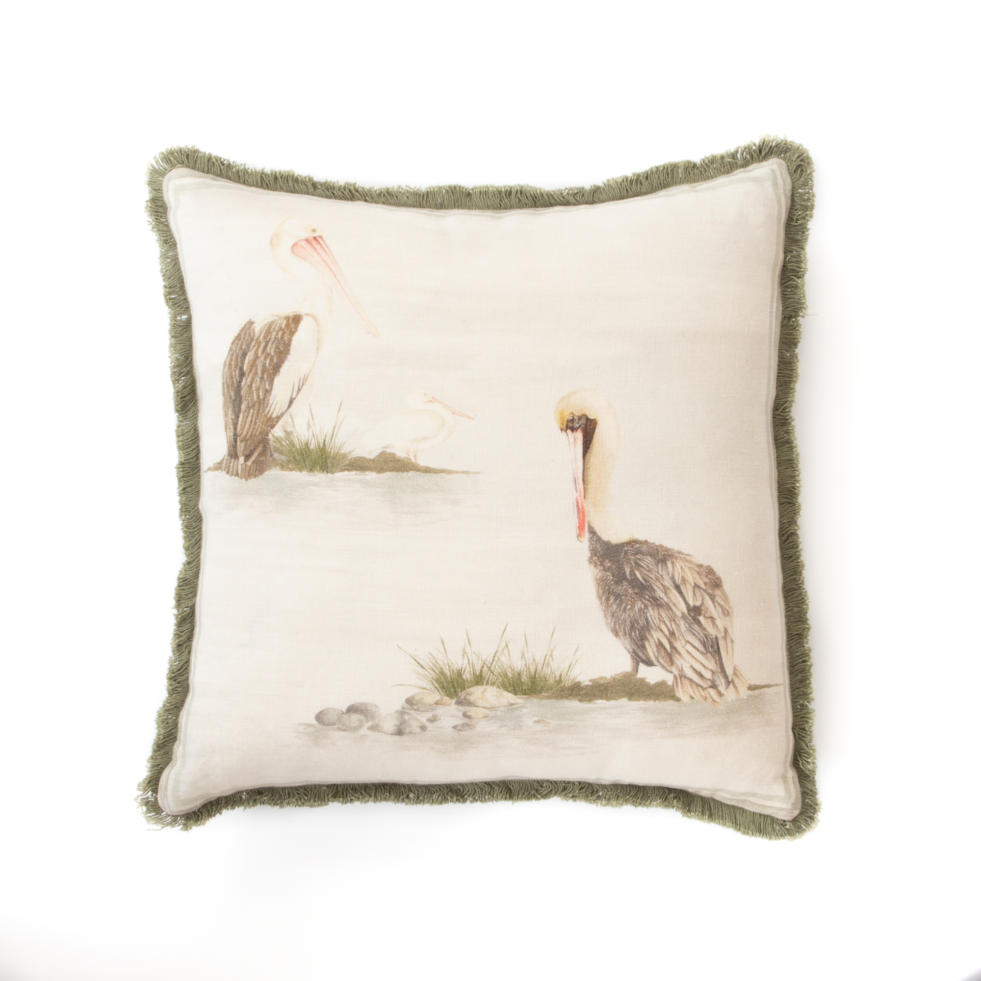 Poised Pelicans Cushion Cover