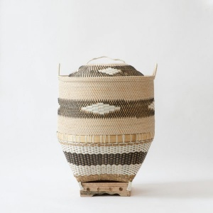 Malay Square Bottomed Storage Basket with Lid