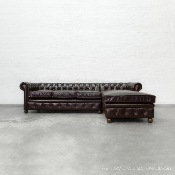 Chaise sectional chesterfield collection for Chaise chesterfield