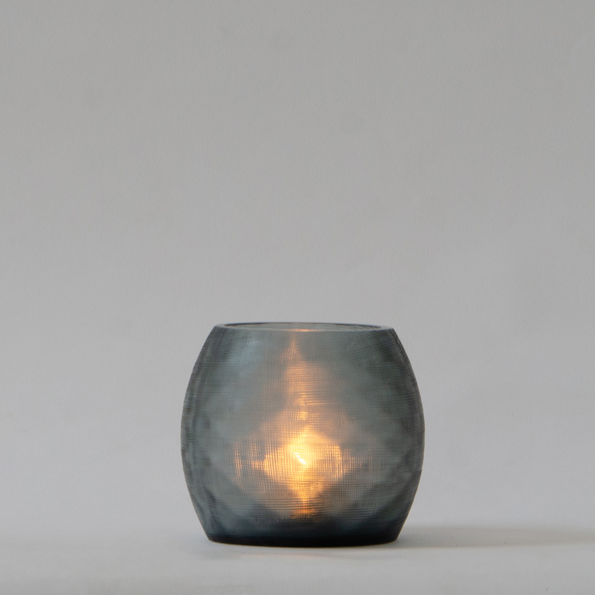 Mosaic Glass Candle Holder - Teal