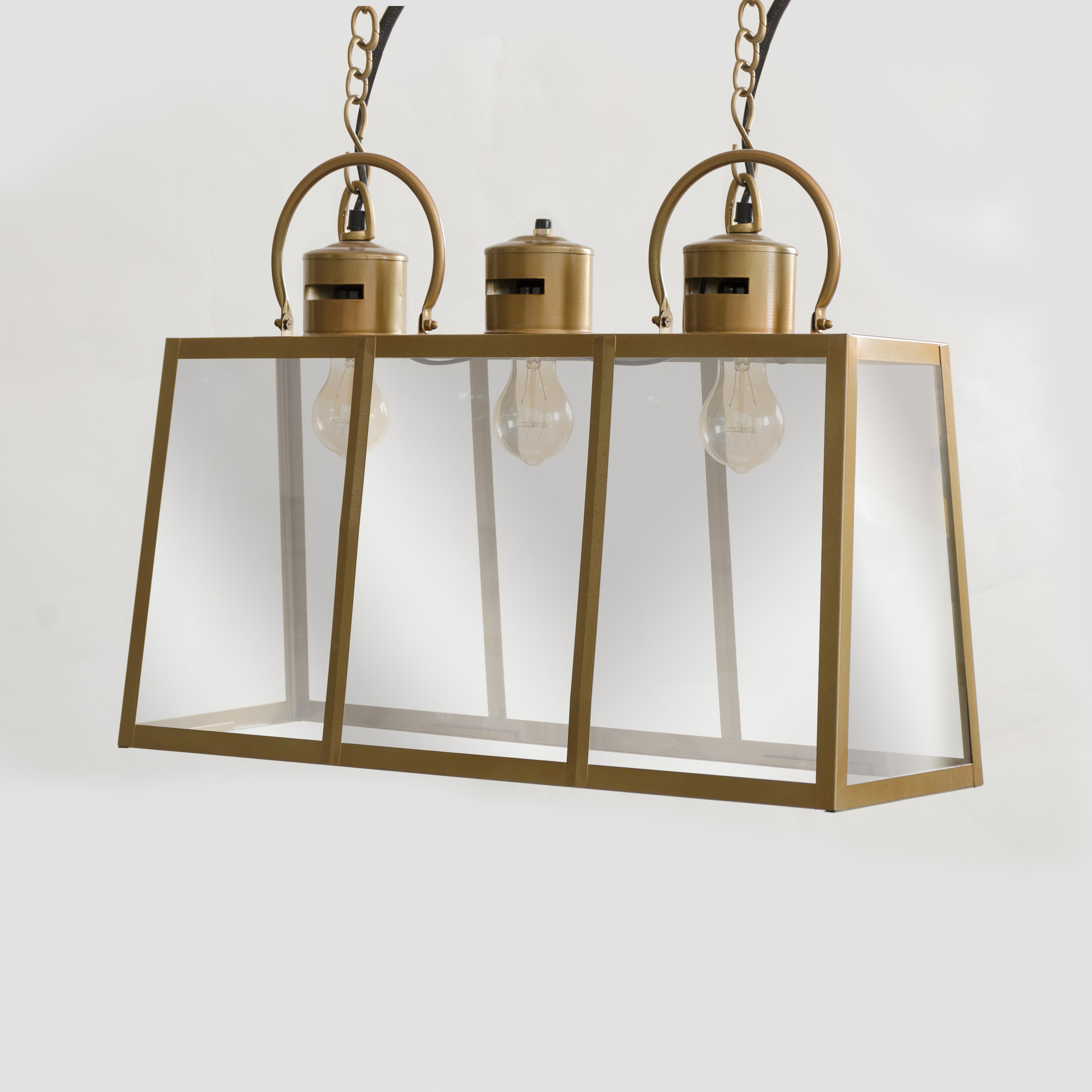 Rome Lantern Chandelier - Antique Brass