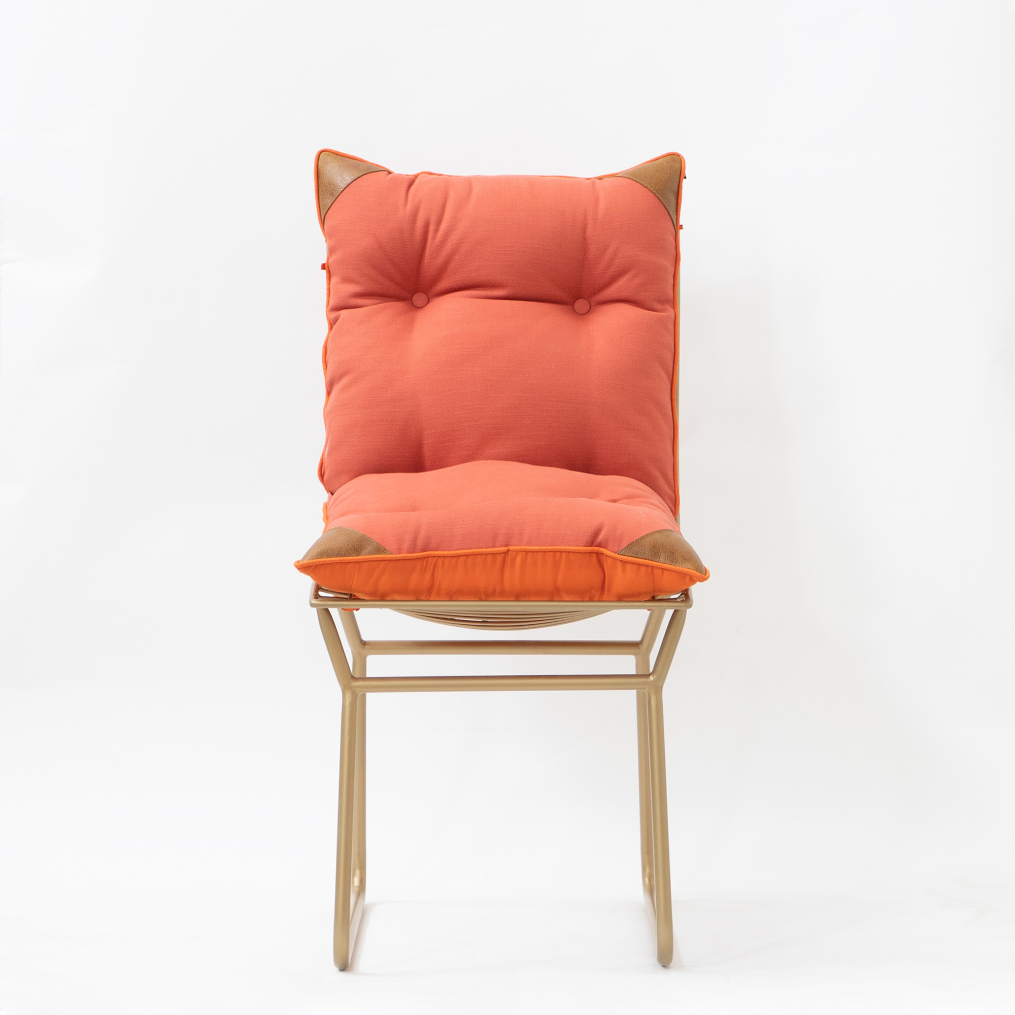 ROSSO METAL CHAIR WITH TIE-UP CUSHION