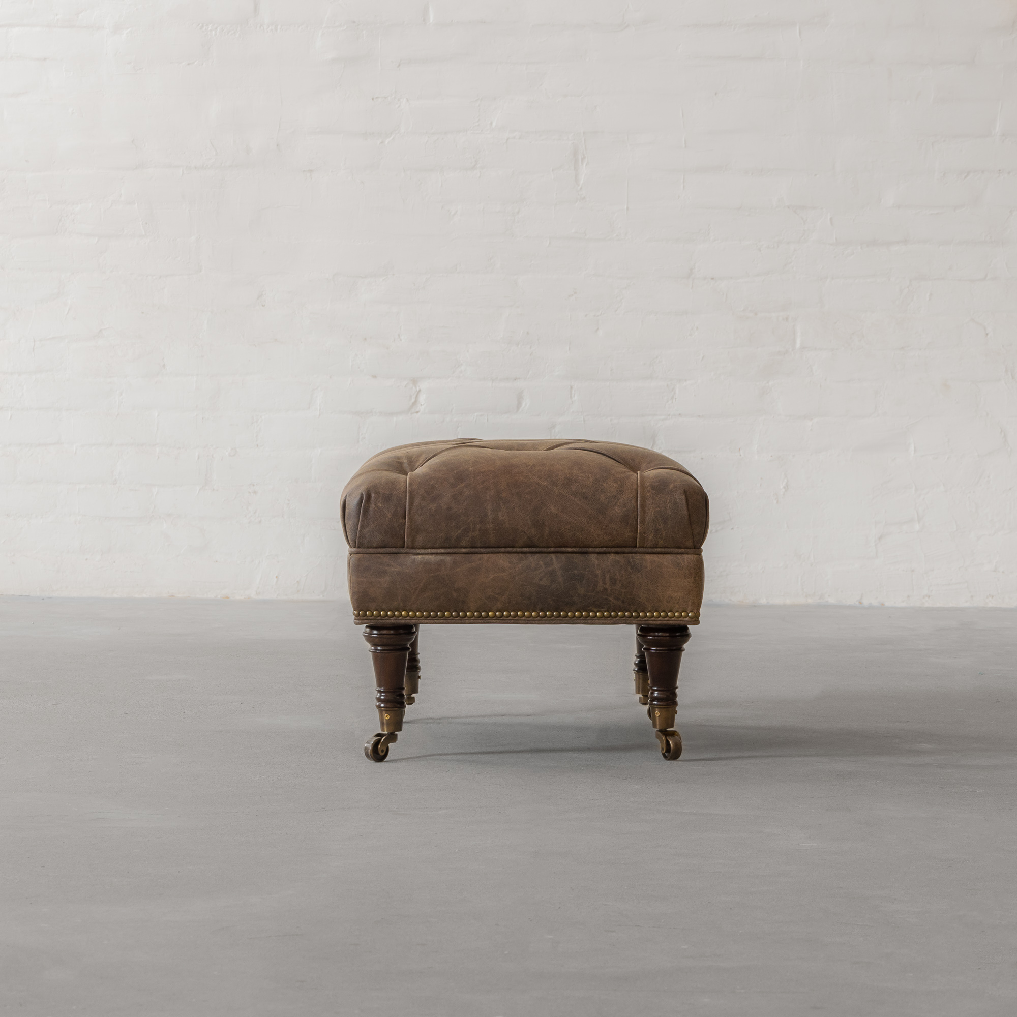 Ryan Upholstered Leather Ottoman