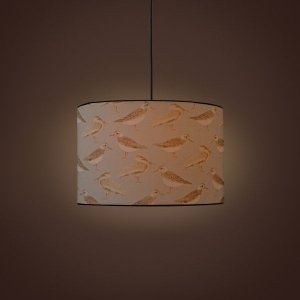 Villa Cylindrical Pendant Lamp - Seagulls of Virgin Islands Shore