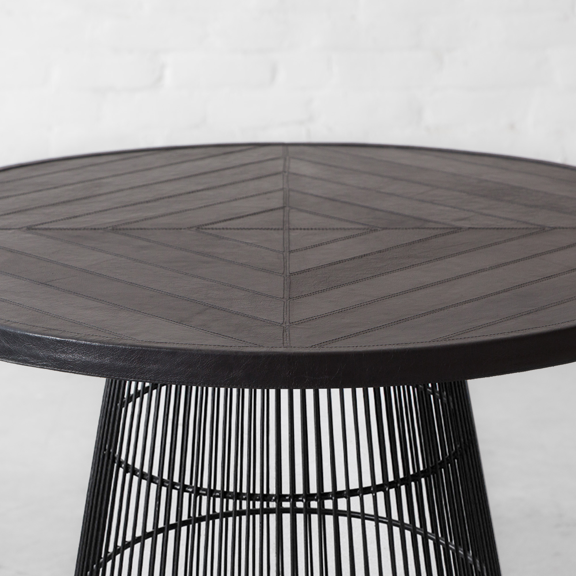 Seattle Leather Clad Dining Table