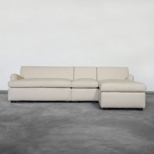Large Chaise Sectional With Rolled Arms