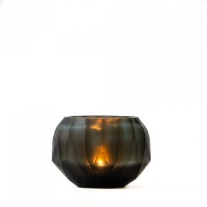 Shibori Glass Candle Holder - Basil