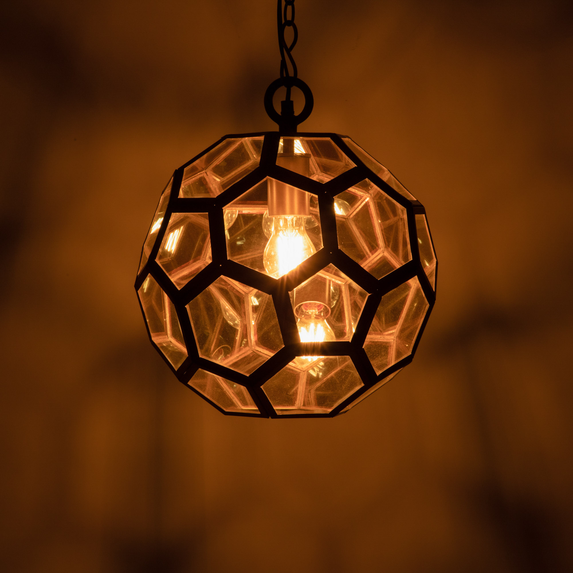 Sienna Metal and Vintage Glass Pendant Lamp
