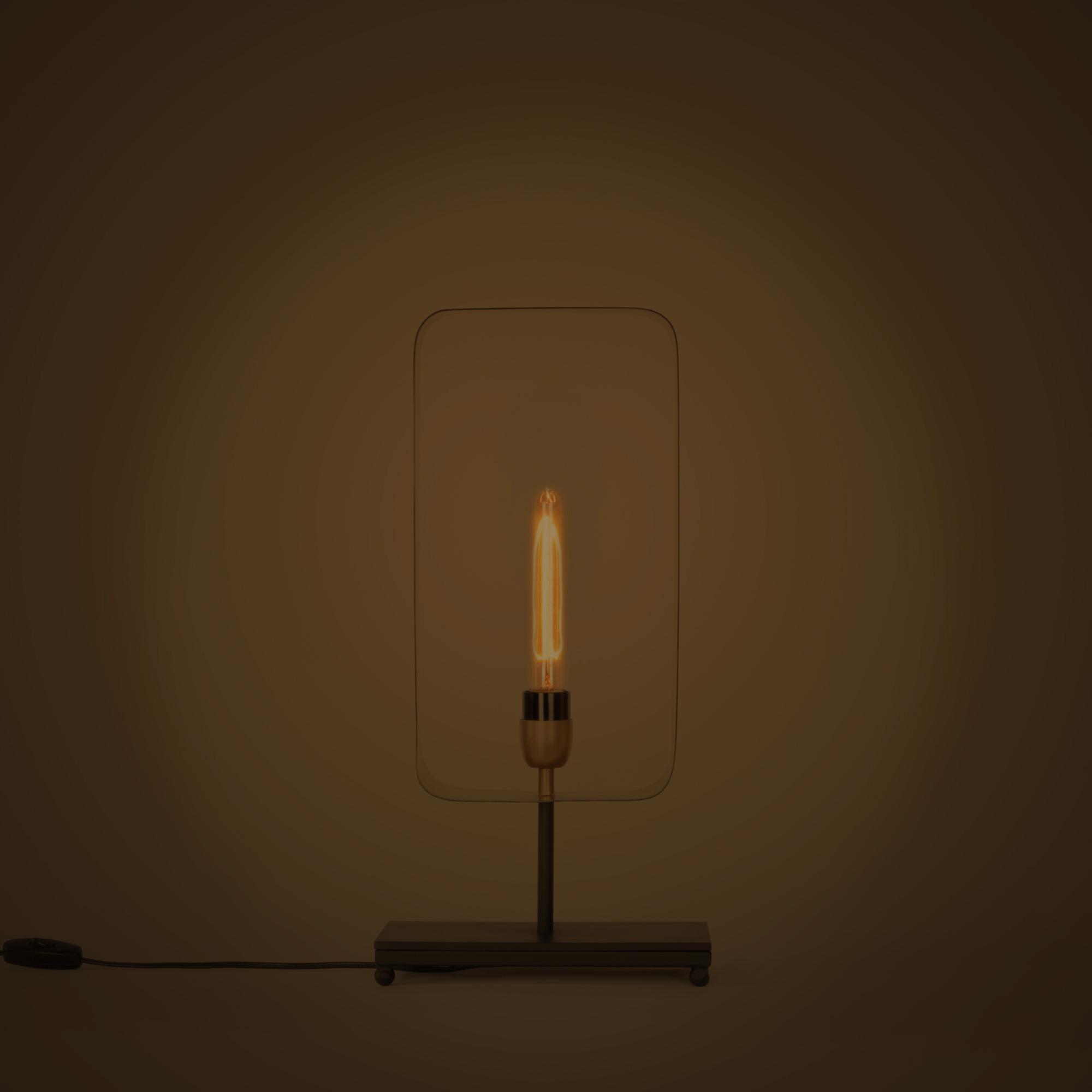 Soho Rectangular Table Lamp Black And Antique Brass