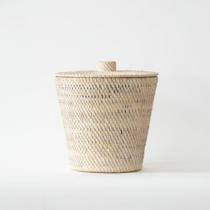 Multipurpose Handwoven Storage Pot with Lid