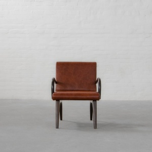 The Bombay House Leather Armchair
