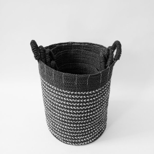The Monkey Forest  Handwoven Basket – Ebony & Ivory