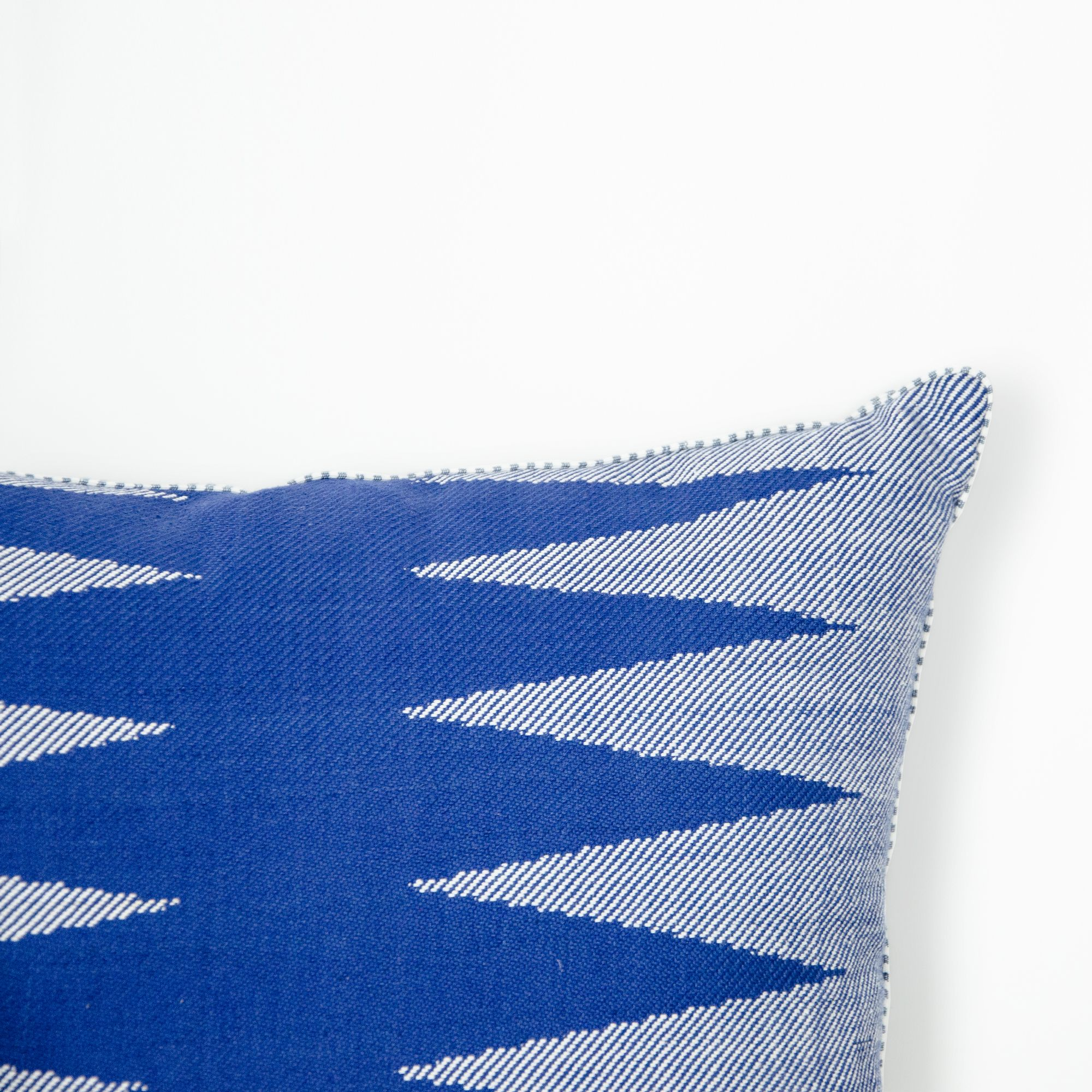 TWO ROW ASHOK TREES HANDWOVEN CUSHION COVER