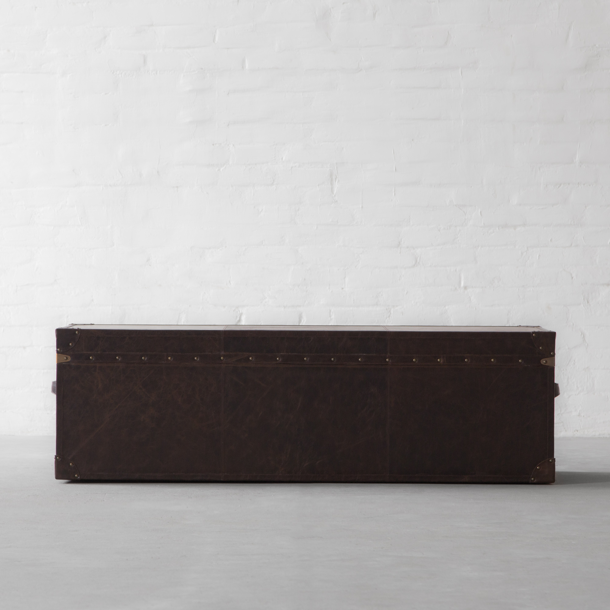 Udaipur Leather Trunk Bench