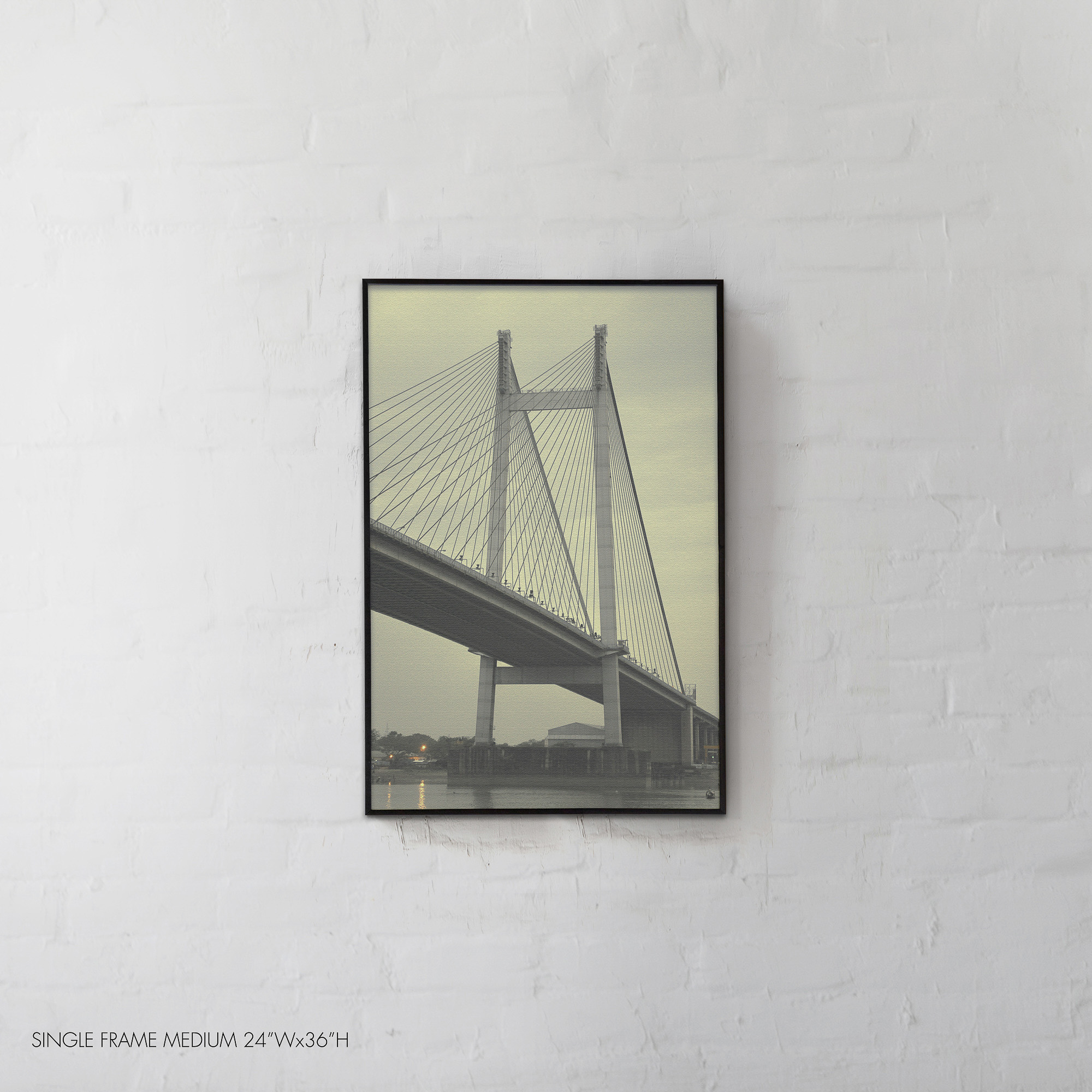 The pride of Hooghly River, Vidyasagar Setu suspension bridge, Kolkata