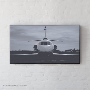 The Black and White Dassault Falcon 900B