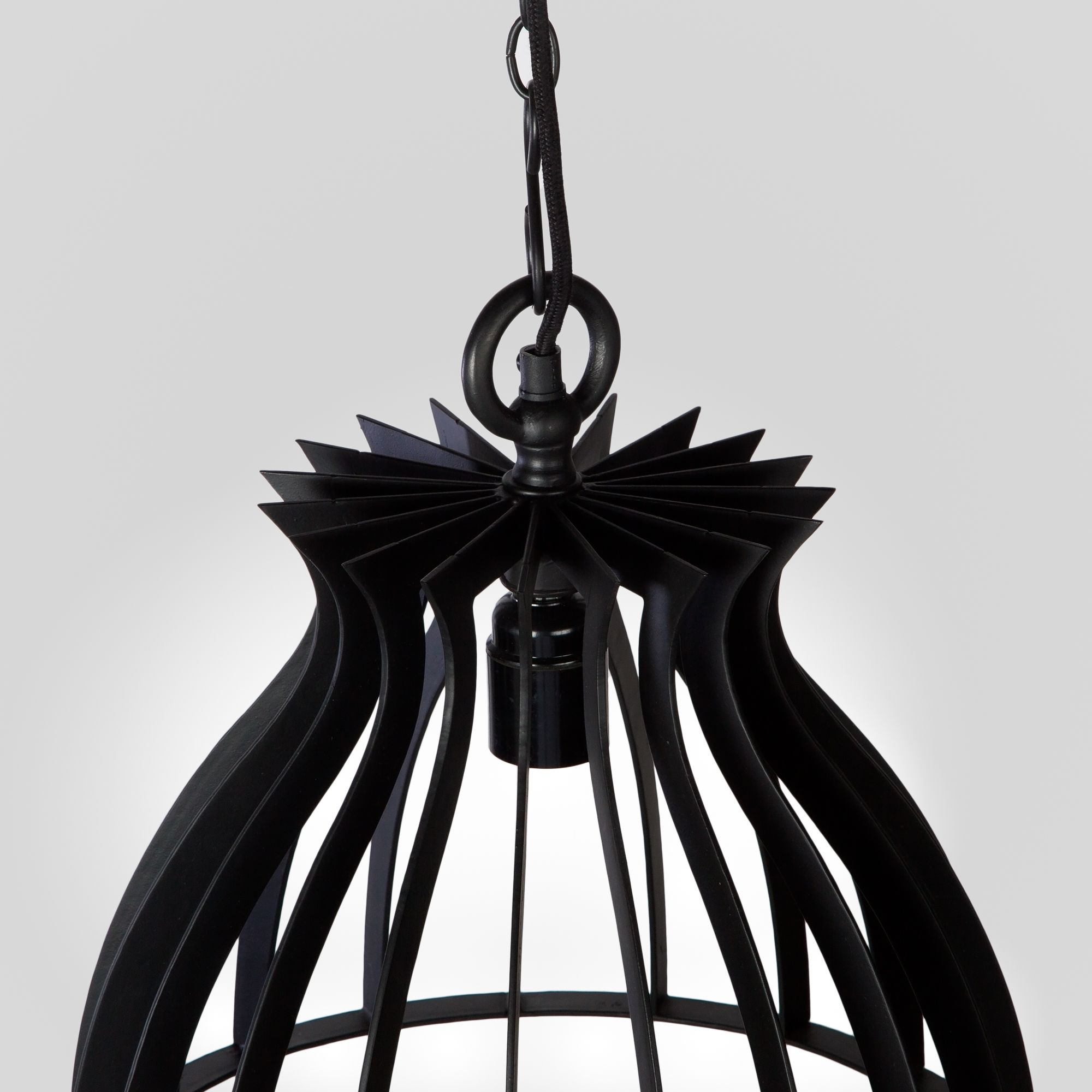 Warehouse Pendant Lamp- Coal