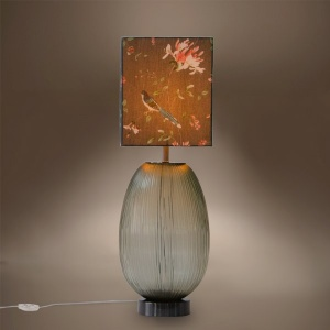 Waves Glass Lamp Stand - Basil