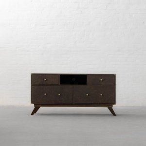 Colaba Leather TV Unit