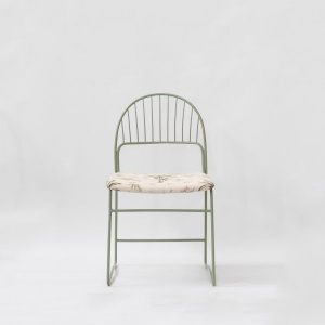 Eden Upholstered Metal Chair