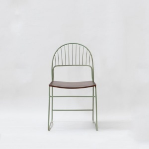 Eden Metal Chair with Wooden Seat